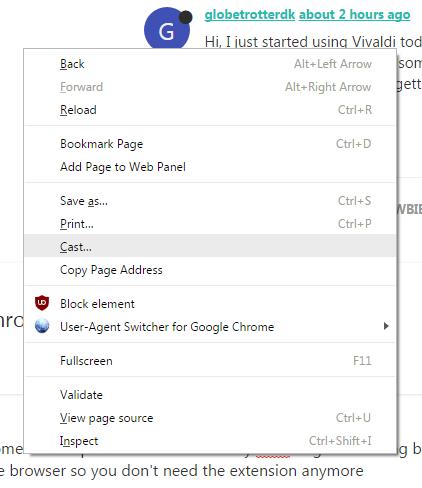 Google Chromecast extension  | Vivaldi Forum
