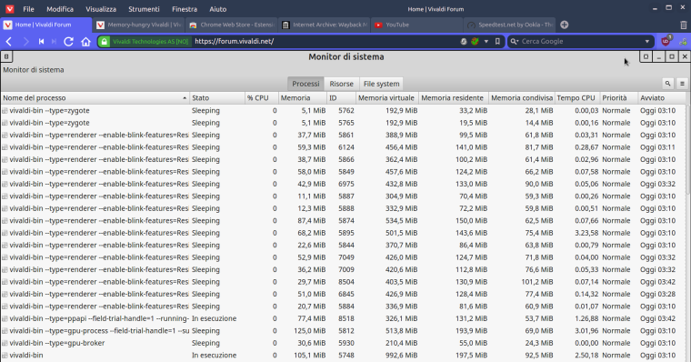 0_1493863905714_Vivaldi Forum - Memory usage from Mint Task Manager (with 7 tabs open).png