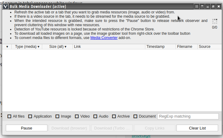 Bulk Media Downloader window | Vivaldi Forum