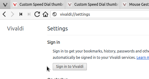 Custom Speed Dial thumbnails | Vivaldi Browser