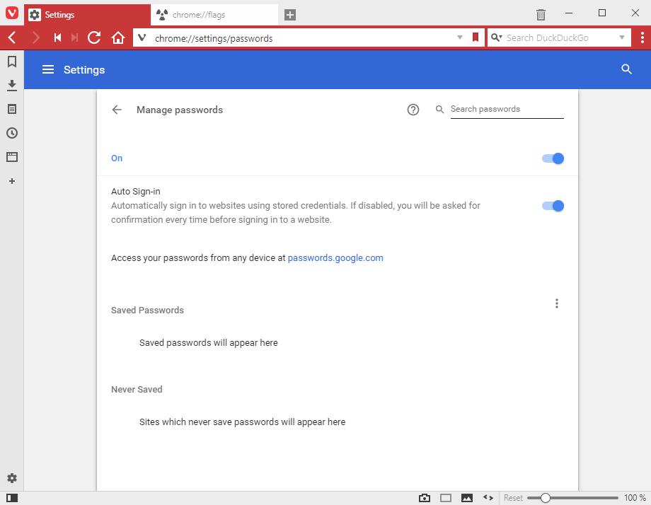 Export / import passwords via CSV (Vivaldi 1 13 & 1 14