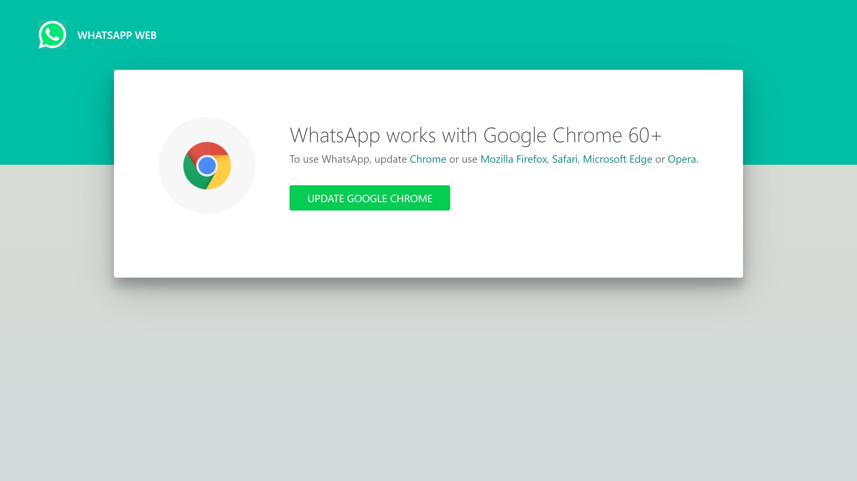 Whatsapp Web Says Whatsapp Works With Google Chrome 49 Update Google Chrome Vivaldi Forum